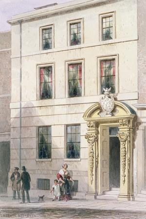 The New Front of Painter Stainers Hall, 1850-Thomas Hosmer Shepherd-Stretched Canvas Print
