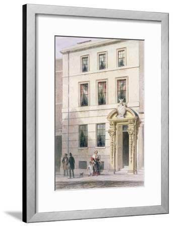 The New Front of Painter Stainers Hall, 1850-Thomas Hosmer Shepherd-Framed Giclee Print
