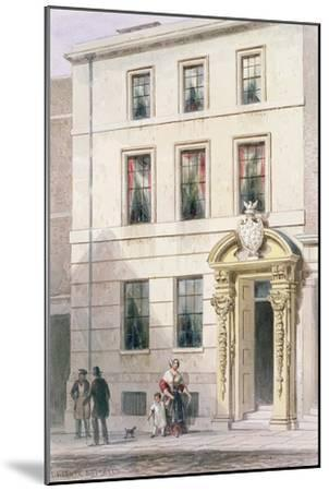 The New Front of Painter Stainers Hall, 1850-Thomas Hosmer Shepherd-Mounted Giclee Print