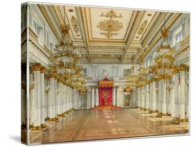 St George's Hall, Winter Palace-Konstantin Andreyevich Ukhtomsky-Stretched Canvas Print
