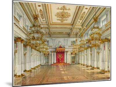 St George's Hall, Winter Palace-Konstantin Andreyevich Ukhtomsky-Mounted Giclee Print