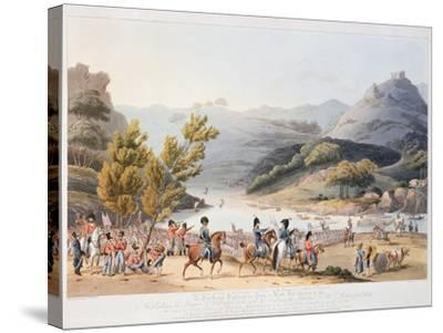 Fording of the River Mondego, engraved by C. Turner, 21st September 1810-Thomas Staunton St. Clair-Stretched Canvas Print