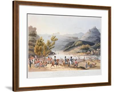 Fording of the River Mondego, engraved by C. Turner, 21st September 1810-Thomas Staunton St. Clair-Framed Giclee Print