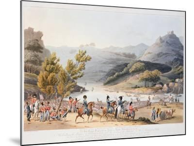 Fording of the River Mondego, engraved by C. Turner, 21st September 1810-Thomas Staunton St. Clair-Mounted Giclee Print