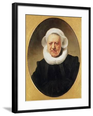 Portrait of Aechje Claesdar, 1634-Rembrandt van Rijn-Framed Giclee Print