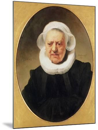 Portrait of Aechje Claesdar, 1634-Rembrandt van Rijn-Mounted Giclee Print
