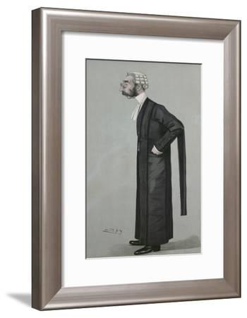A Sporting Lawyer, form 'Vanity Fair', 17th March 1898-Leslie Mathew Ward-Framed Giclee Print