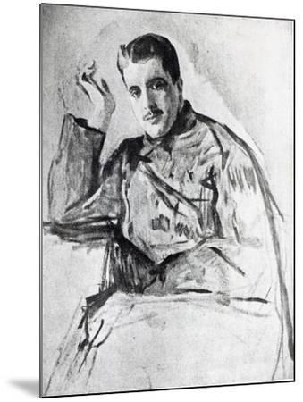 Serge Diaghilev, 1904-Valentin Aleksandrovich Serov-Mounted Giclee Print