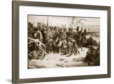 Marshal Ney Supporting the French Rearguard-Adolphe Yvon-Framed Giclee Print