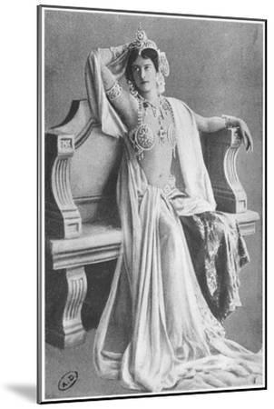 Mata Hari, 1910--Mounted Giclee Print