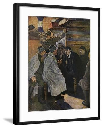 Lenin Returning from Abroad in 1917 on the Train from Finland--Framed Giclee Print