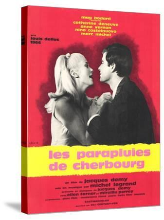 The Umbrellas of Cherbourg, French Movie Poster, 1964--Stretched Canvas Print