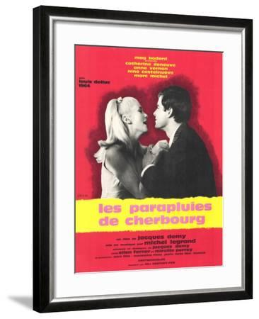 The Umbrellas of Cherbourg, French Movie Poster, 1964--Framed Art Print