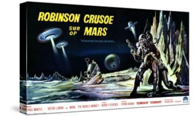 Robinson Crusoe on Mars, Belgian Movie Poster, 1964--Stretched Canvas Print