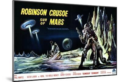 Robinson Crusoe on Mars, Belgian Movie Poster, 1964--Mounted Art Print
