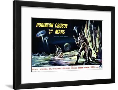 Robinson Crusoe on Mars, Belgian Movie Poster, 1964--Framed Art Print