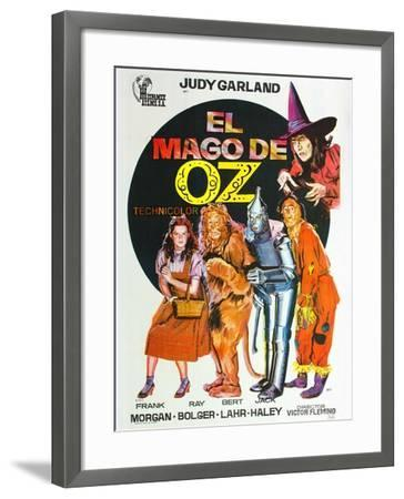 The Wizard of Oz, Spanish Movie Poster, 1939--Framed Art Print