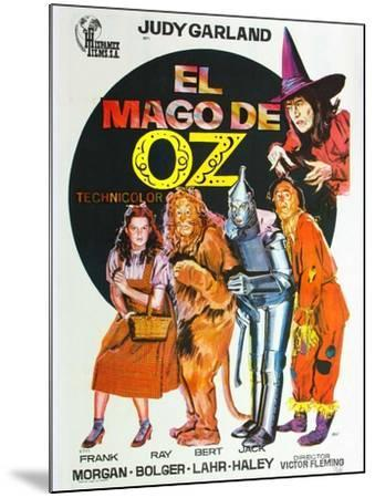 The Wizard of Oz, Spanish Movie Poster, 1939--Mounted Art Print