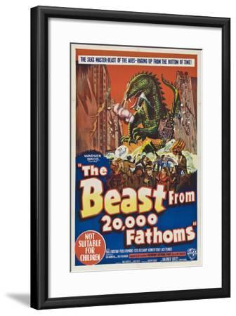 The Beast From 20,000 Fathoms, Australian Movie Poster, 1953--Framed Art Print