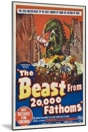 The Beast From 20,000 Fathoms, Australian Movie Poster, 1953--Mounted Art Print