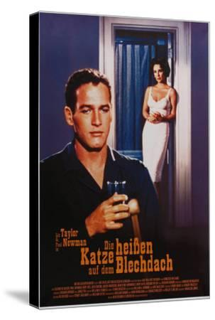 Cat on a Hot Tin Roof, German Movie Poster, 1958--Stretched Canvas Print