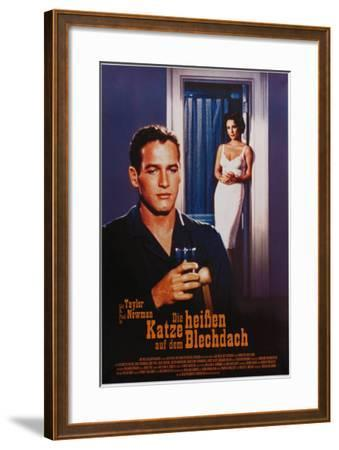 Cat on a Hot Tin Roof, German Movie Poster, 1958--Framed Art Print