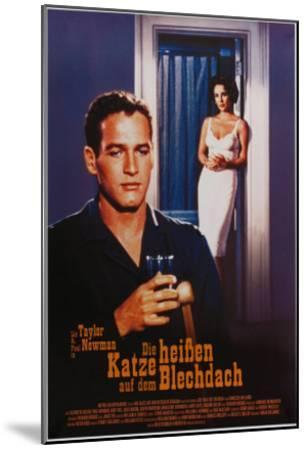 Cat on a Hot Tin Roof, German Movie Poster, 1958--Mounted Art Print