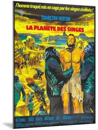 Planet of the Apes, French Movie Poster, 1968--Mounted Art Print