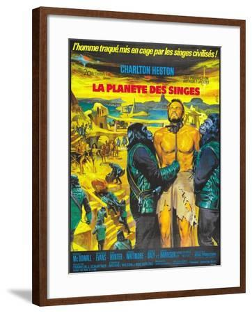 Planet of the Apes, French Movie Poster, 1968--Framed Art Print