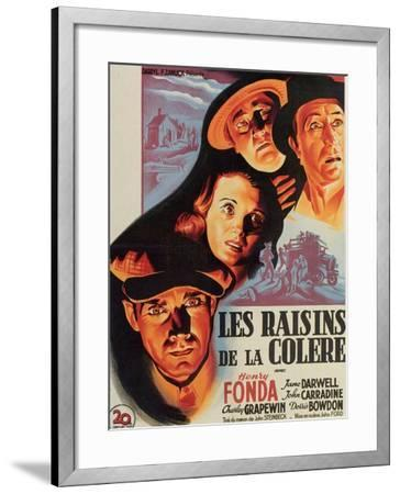 The Grapes of Wrath, French Movie Poster, 1940--Framed Art Print