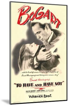 To Have and Have Not, 1944--Mounted Art Print