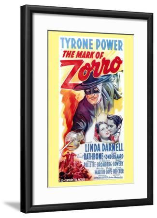 The Mark of Zorro, 1940--Framed Art Print