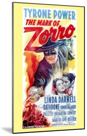 The Mark of Zorro, 1940--Mounted Art Print