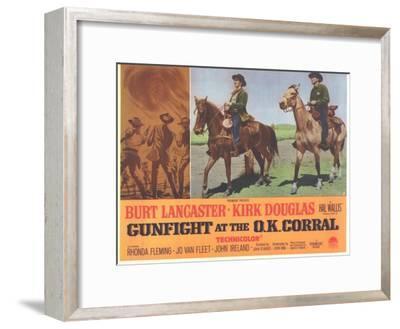 Gunfight at the O.K. Corral, 1963--Framed Art Print