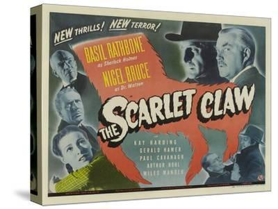 The Scarlet Claw, UK Movie Poster, 1944--Stretched Canvas Print