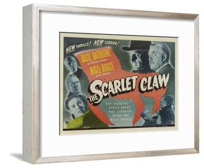 The Scarlet Claw, UK Movie Poster, 1944--Framed Art Print