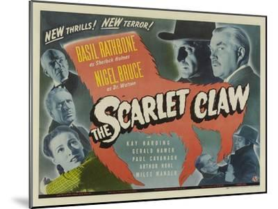The Scarlet Claw, UK Movie Poster, 1944--Mounted Art Print