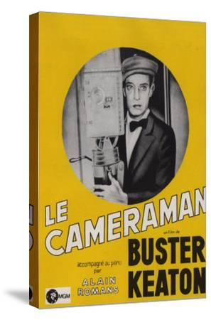 The Cameraman, French Movie Poster, 1928--Stretched Canvas Print
