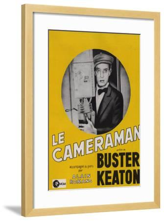 The Cameraman, French Movie Poster, 1928--Framed Art Print