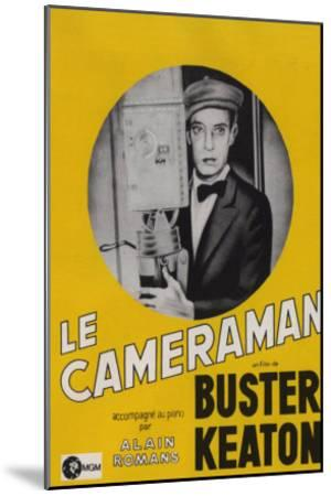 The Cameraman, French Movie Poster, 1928--Mounted Art Print