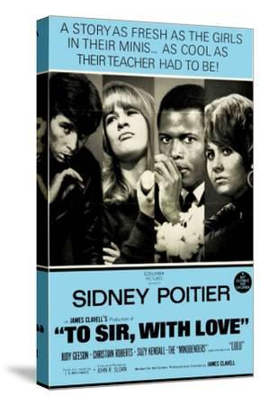 To Sir With Love, Australian Movie Poster, 1967--Stretched Canvas Print