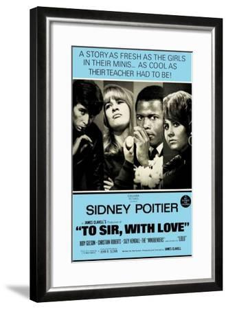 To Sir With Love, Australian Movie Poster, 1967--Framed Art Print