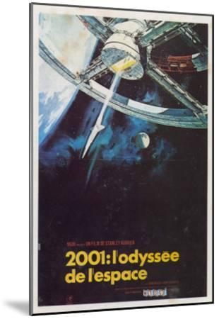 2001: A Space Odyssey, French Movie Poster, 1968--Mounted Art Print