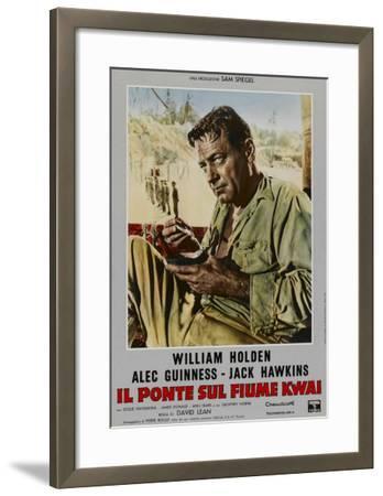 Bridge on the River Kwai, Italian Movie Poster, 1958--Framed Art Print
