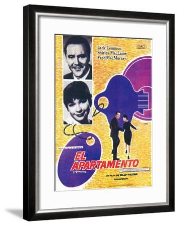 The Apartment, Spanish Movie Poster, 1960--Framed Art Print