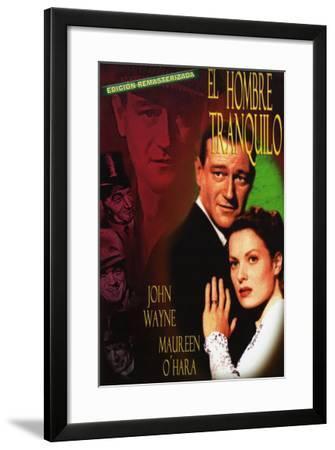 The Quiet Man, Spanish Movie Poster, 1952--Framed Art Print