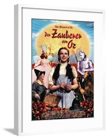 The Wizard of Oz, German Movie Poster, 1939--Framed Art Print