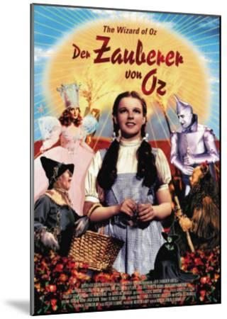 The Wizard of Oz, German Movie Poster, 1939--Mounted Art Print