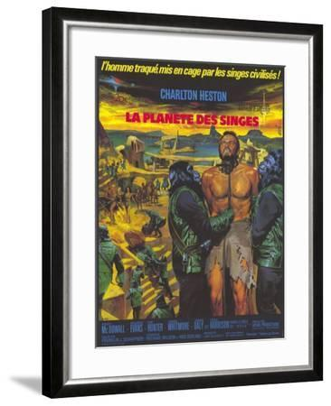 Planet of the Apes, German Movie Poster, 1968--Framed Art Print