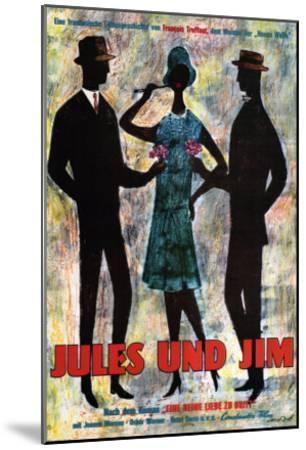 Jules and Jim, German Movie Poster, 1961--Mounted Art Print